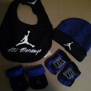 EUC MJ Mondays bib, hat and two sets of socks (OS)